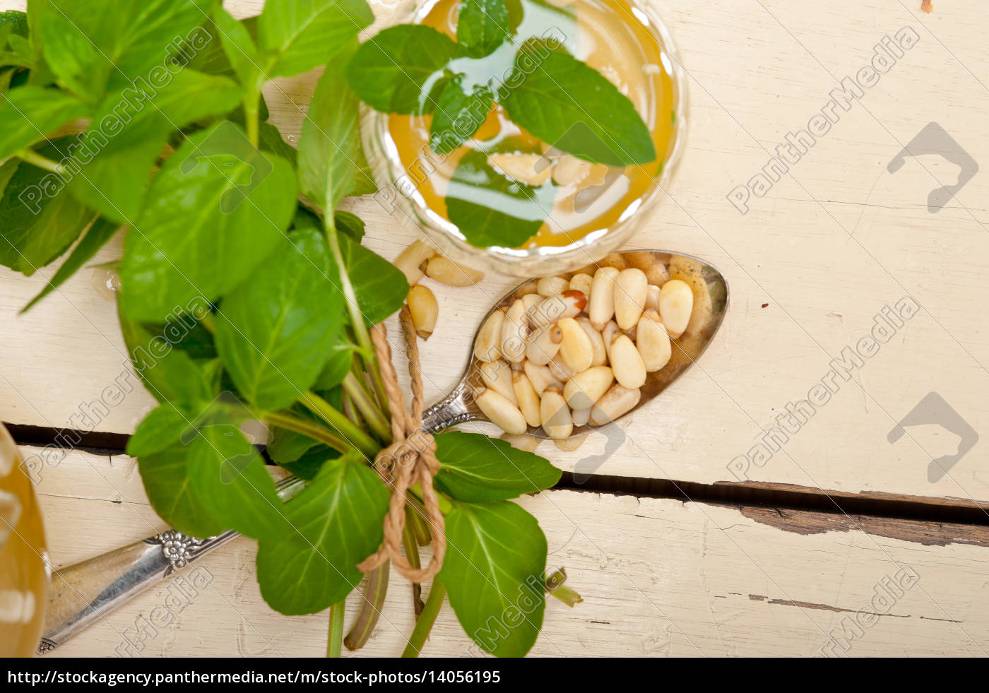 arab, traditional, mint, and, pine, nuts - 14056195