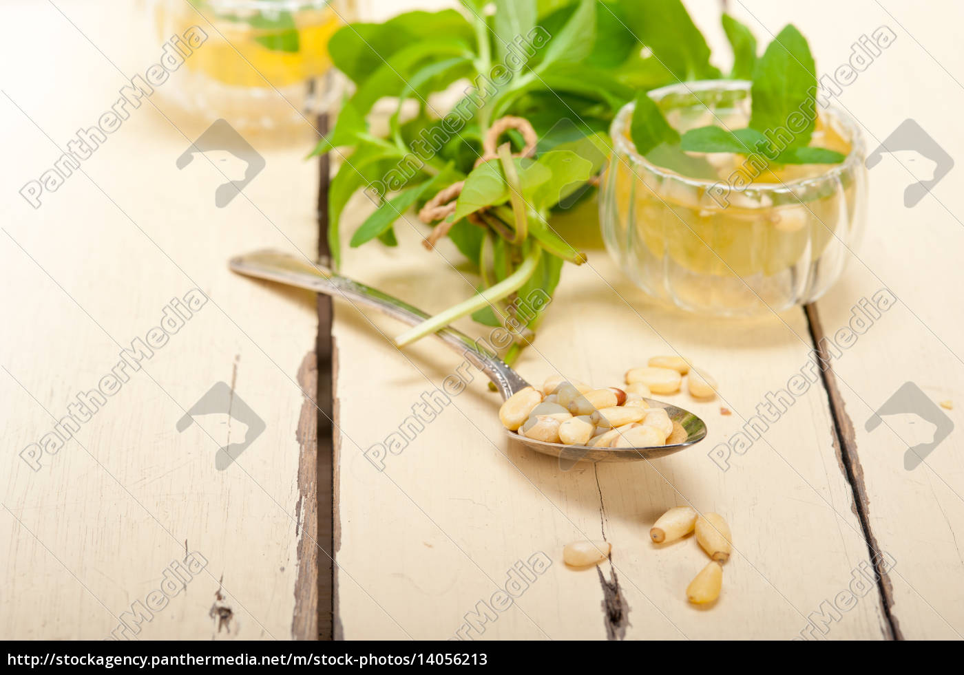 arab, traditional, mint, and, pine, nuts - 14056213