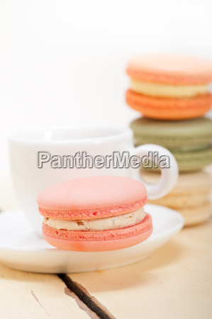 colorful, macaroons, with, espresso, coffee - 14056249