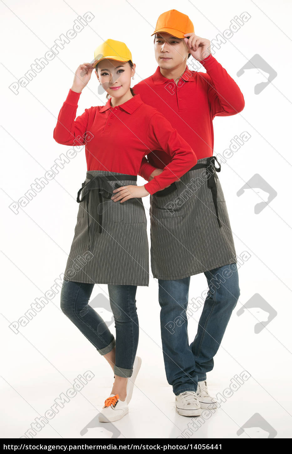 wear, clothing, occupation, chinese, waiters, in - 14056441