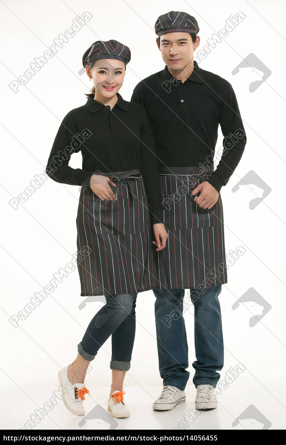 wear, clothing, occupation, chinese, waiters, in - 14056455