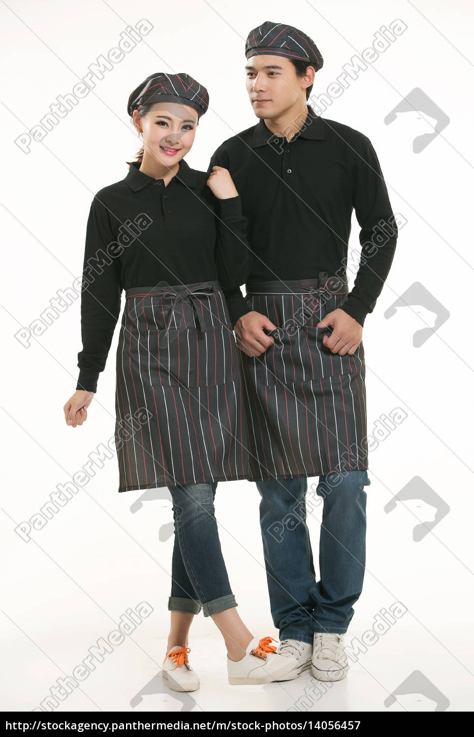 wear, clothing, occupation, chinese, waiters, in - 14056457