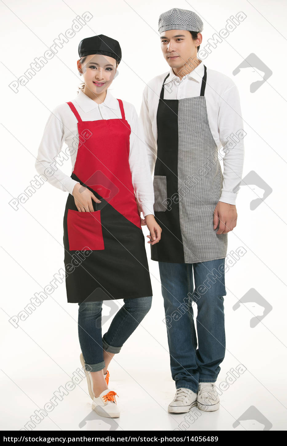 wear, clothing, occupation, chinese, waiters, in - 14056489