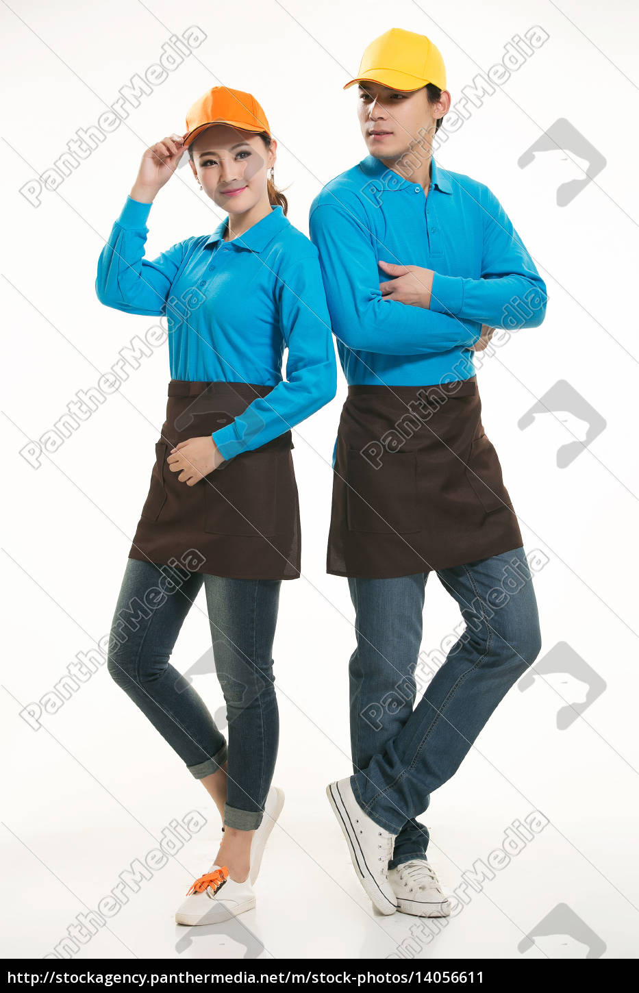 wear, clothing, occupation, chinese, waiters, in - 14056611