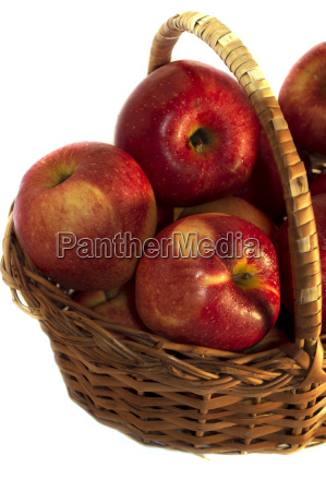 apples in a wattled basket a