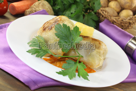braised, stuffed, cabbage, with, parsley - 14057821