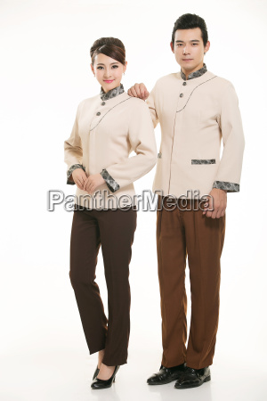 wear, clothing, occupation, chinese, waiters, in - 14058297
