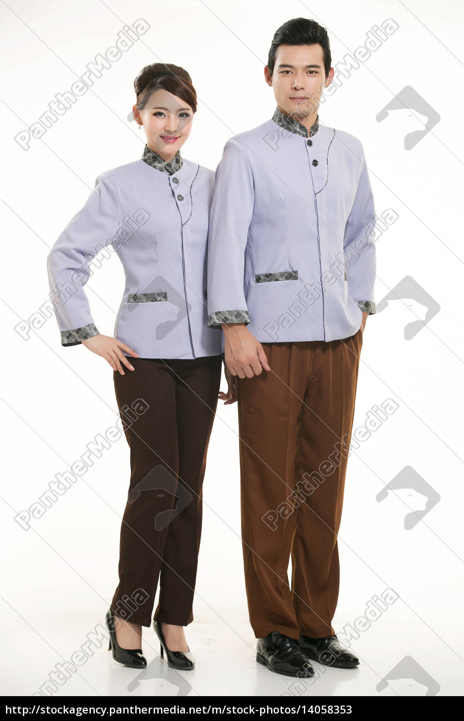 wear, clothing, occupation, chinese, waiters, in - 14058353
