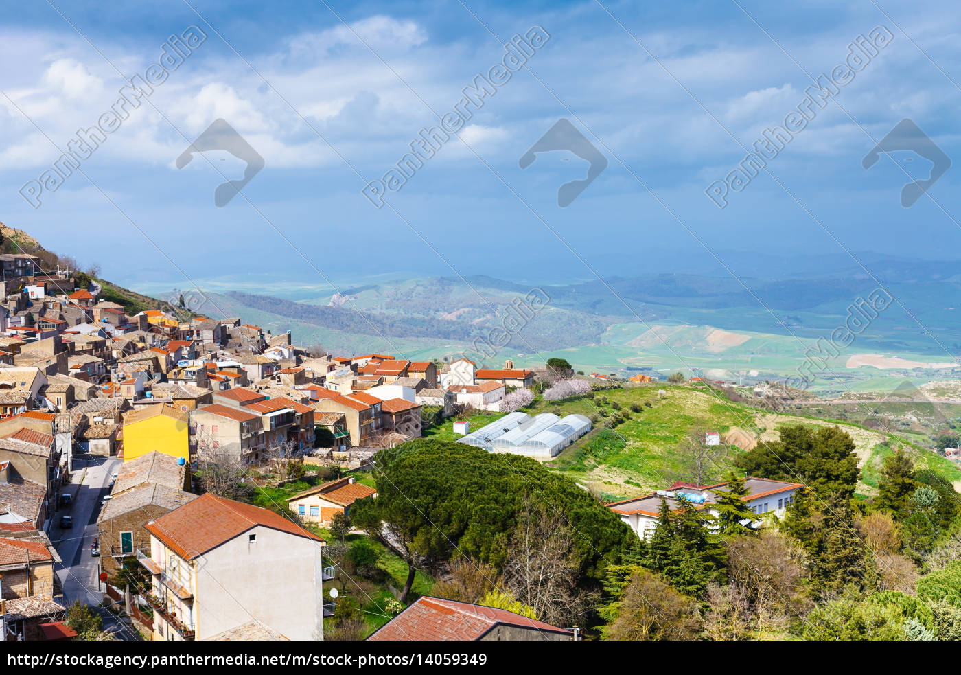 above, view, of, aidone, comune, in - 14059349