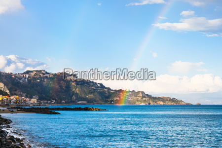 giardini, naxos, resort, and, rainbow, in - 14059391