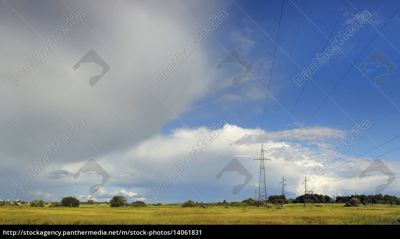 clouds, sky, with, mains, for, power - 14061831