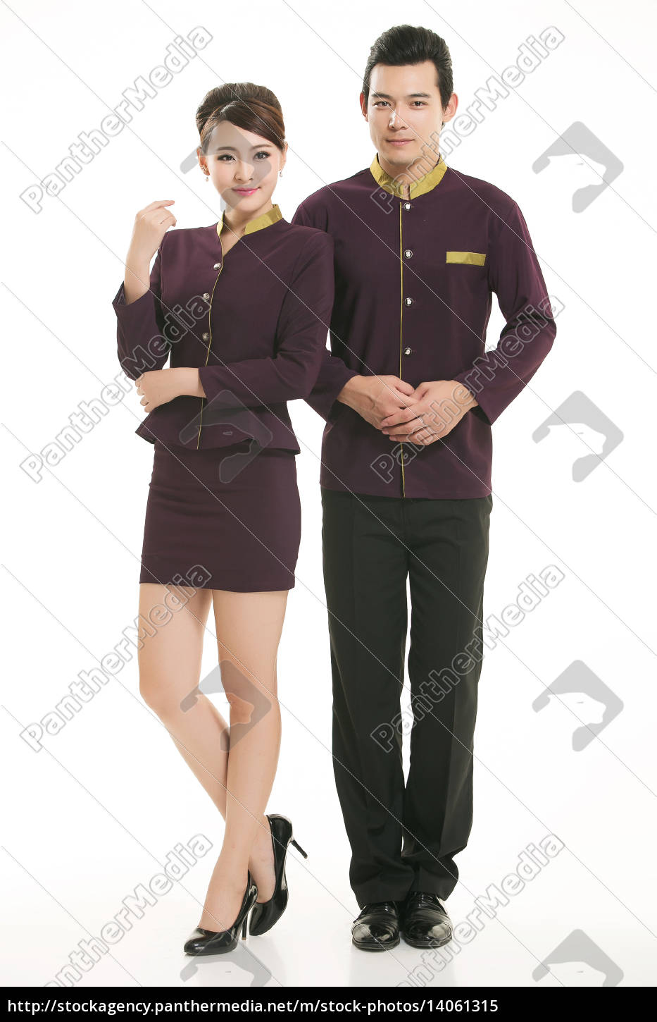 wear, clothing, occupation, chinese, waiters, in - 14061315