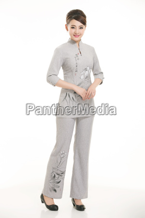 wear, clothing, occupation, chinese, waiters, in - 14061343
