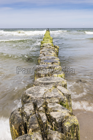 breakwater, baltic, sea - 14062247