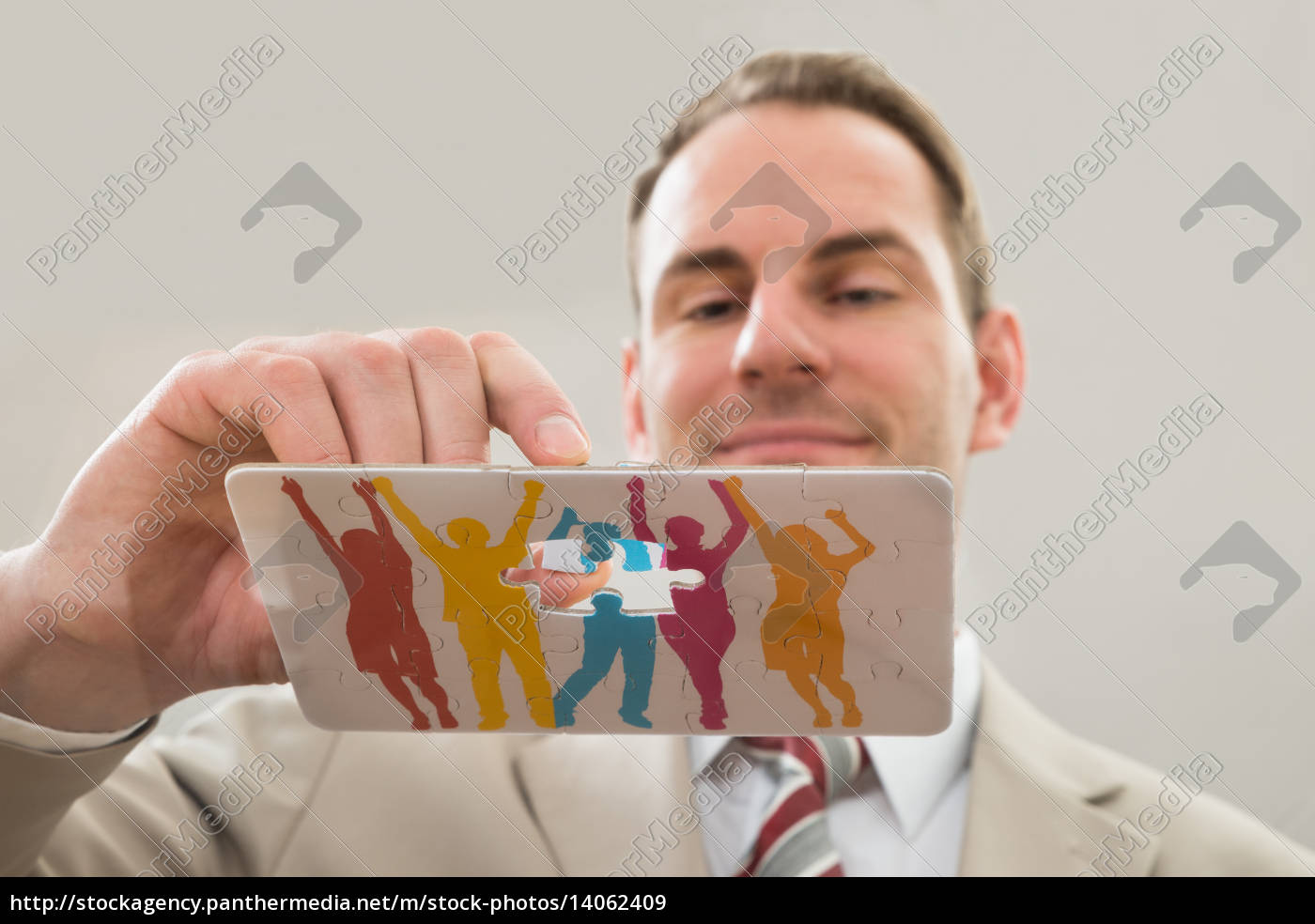 businessman, making, human, figure - 14062409