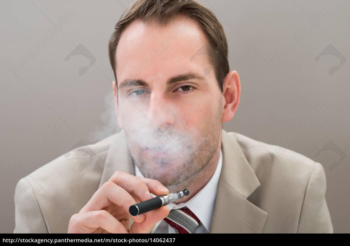 businessman, smoking, electronic, cigarette - 14062437