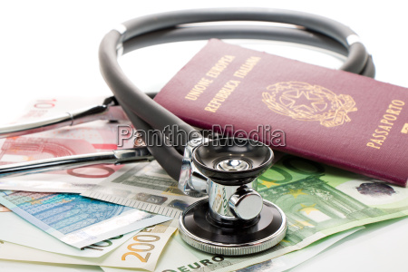 health, care, costs, stethoscope, and, euro, banknotes - 14062637