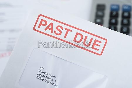 past, due, envelope - 14062385