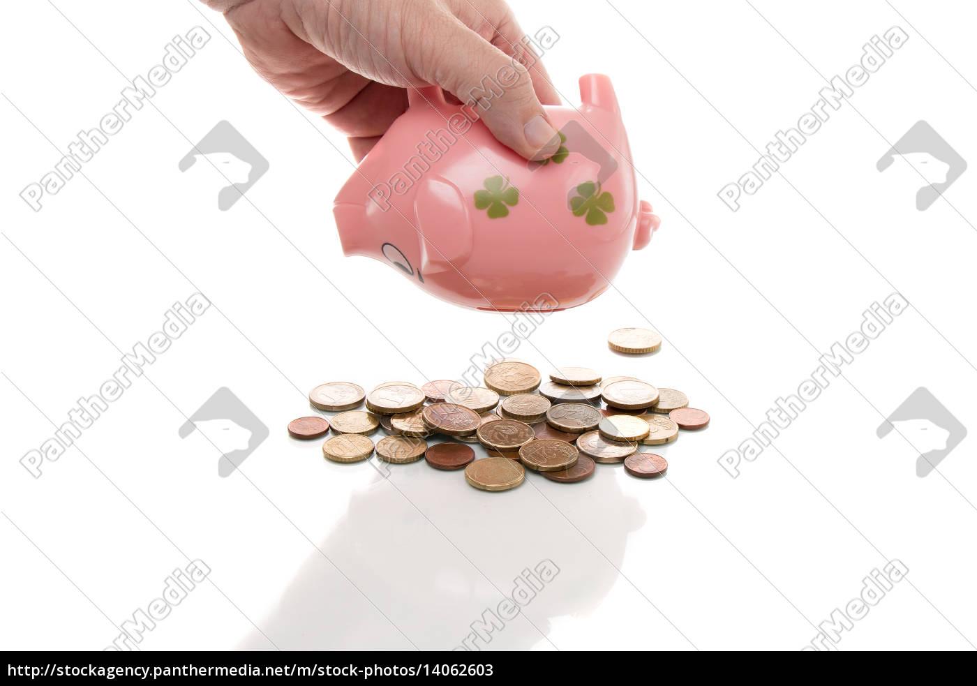 pink, piggy, bank, euros - 14062603