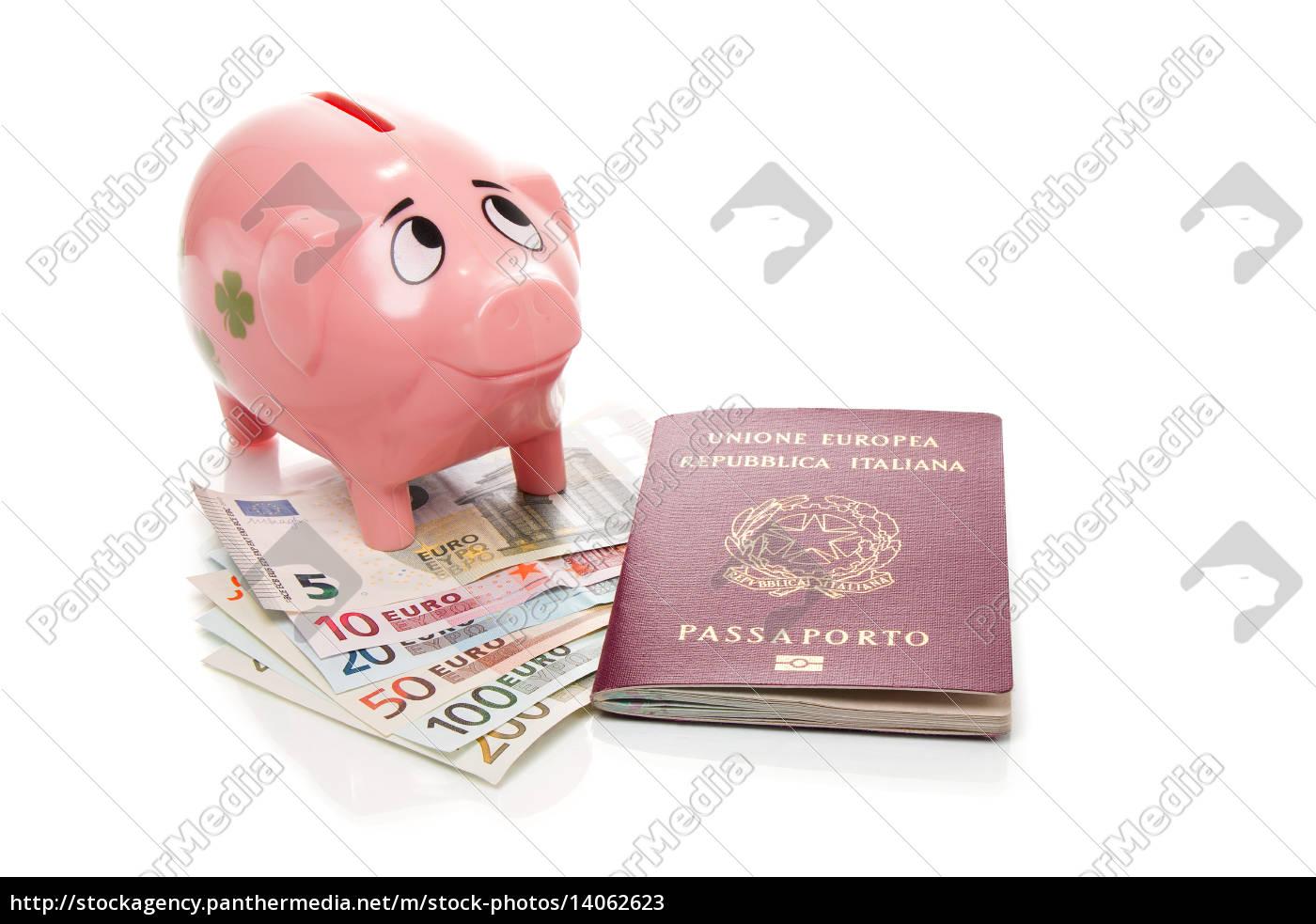 pink, piggy, bank, euros - 14062623