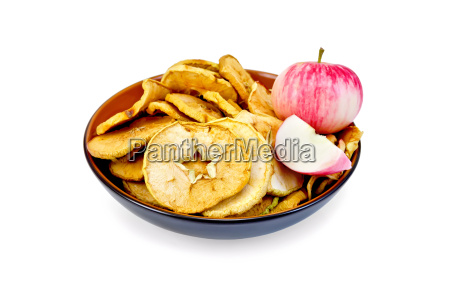 apple, fresh, and, slices, of, dried - 14063865