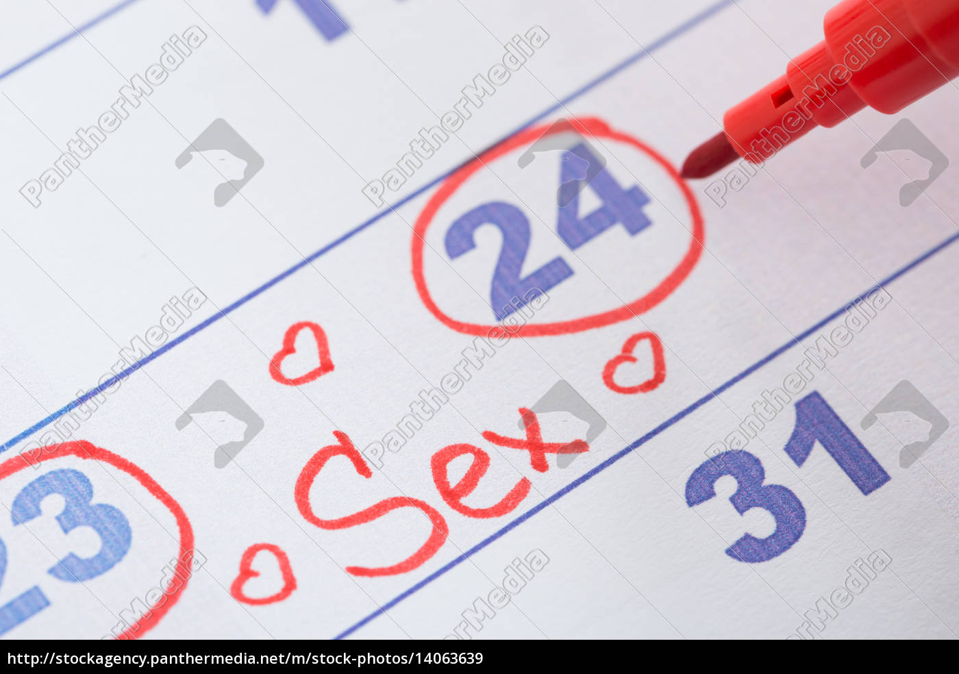 date, marked, for, sex, on, calendar - 14063639