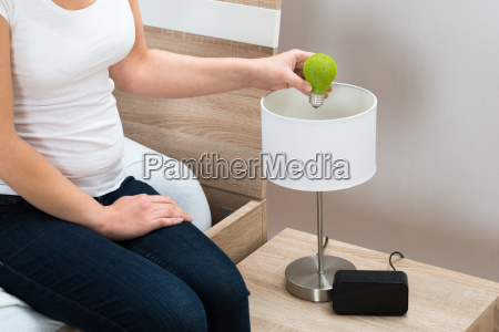 person, hand, fixing, eco, lightbulb - 14063307