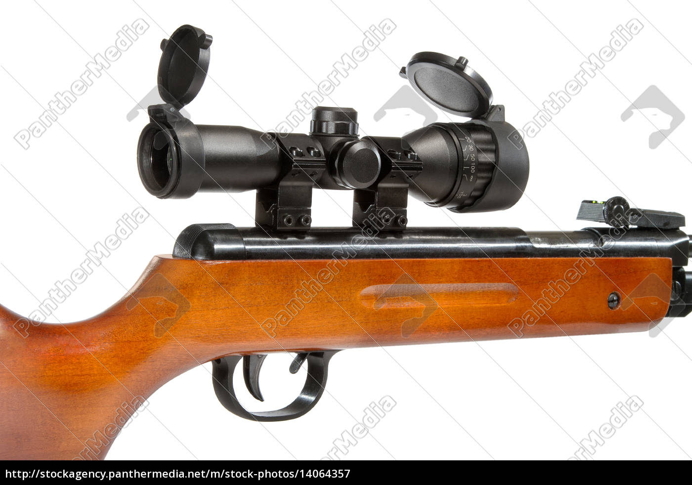 air, rifle, with, a, telescopic, sight - 14064357