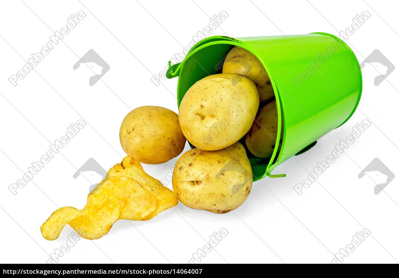 potatoes, yellow, in, a, green, bucket - 14064007