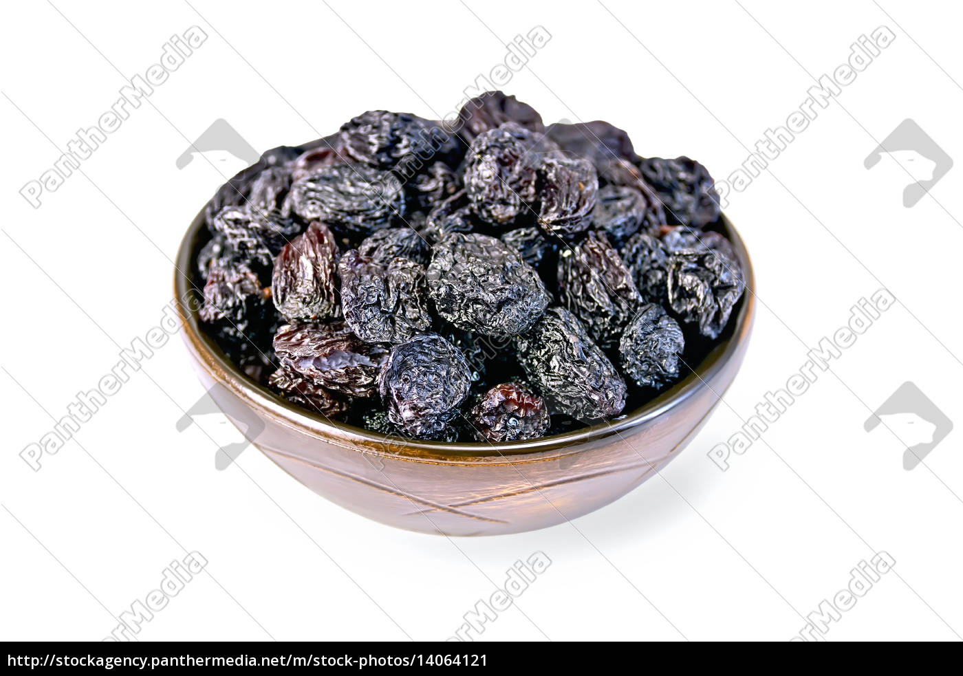 raisins, black, in, bowl - 14064121