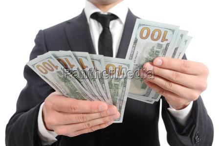 close up of a business man