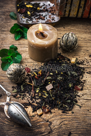 tea, brew, with, lime, and, mint - 14065285