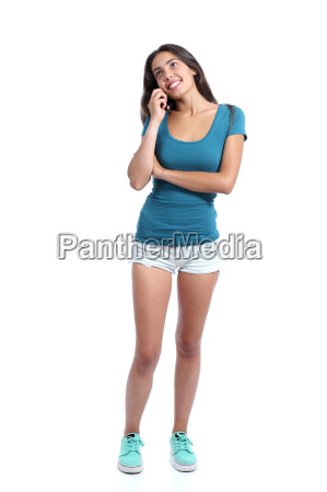 teen girl calling on the mobile