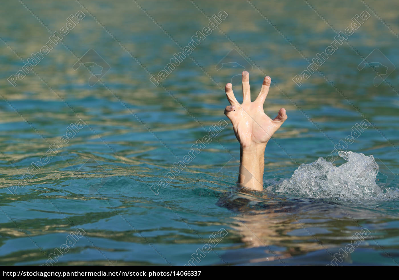 hand, of, a, man, drowning, in - 14066337