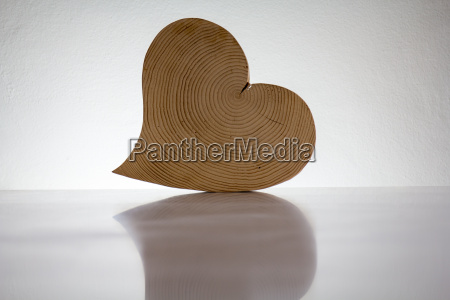 a heart made of wood