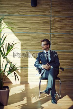 businessman, on, chair - 14067775