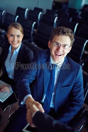 greeting, business, partner - 14067765