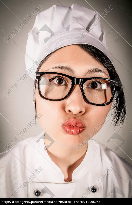 fun, portrait, of, chef, making, a - 14068057