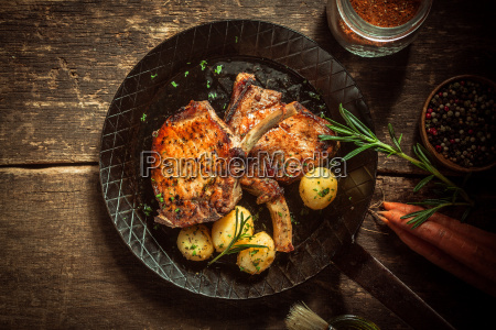 gourmet, meal, of, marinated, pork, cutlets - 14068175