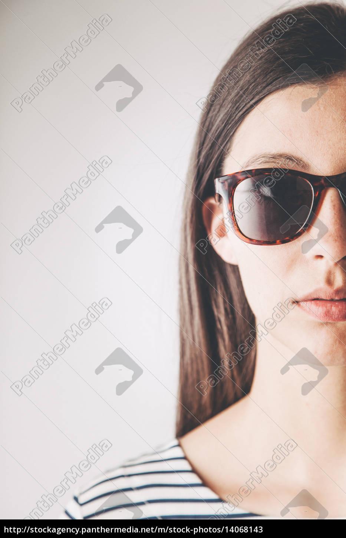 half, face, portrait, of, a, woman - 14068143