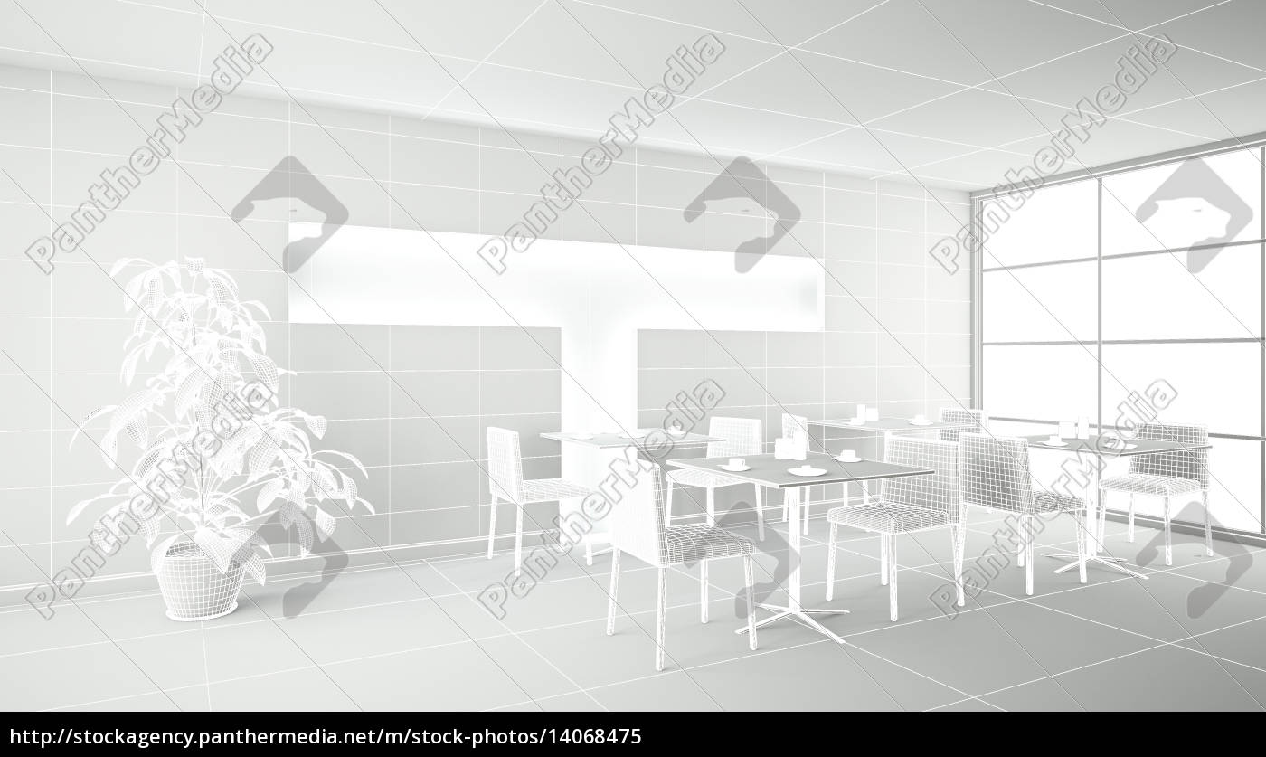 interior, rendering, of, a, bar, without - 14068475