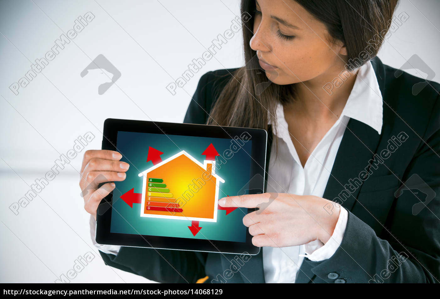 woman, house, building, office, indicate, show - 14068129