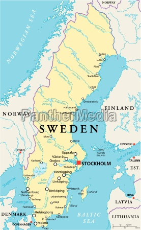 sweden political map