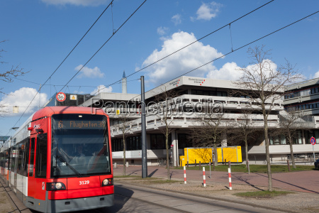 tram at the university of bremen