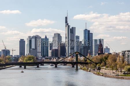 downtown skyline of the frankfurt main
