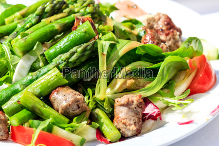 green, salad, with, asparagus, and, italian - 14069607