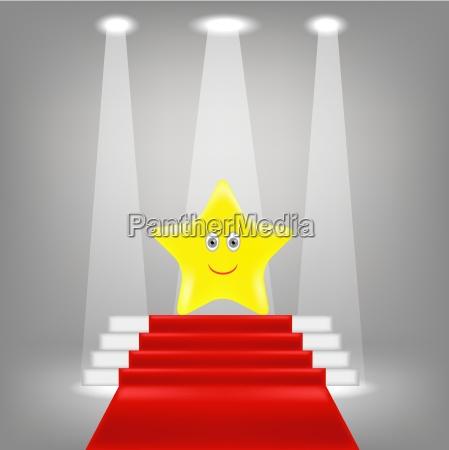 yellow star on red carpet winner