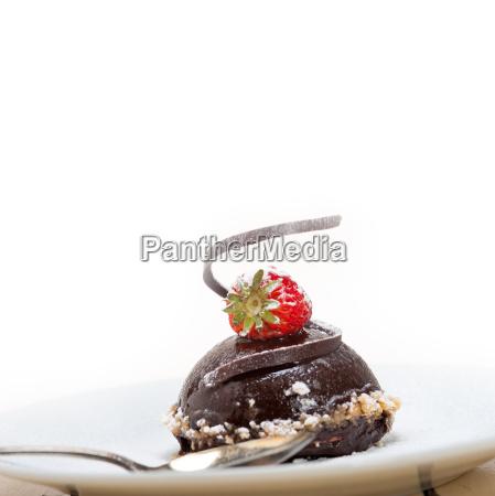 fresh, chocolate, strawberry, mousse - 14070327