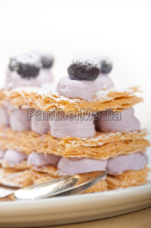 napoleon, blueberry, cake, dessert - 14070355