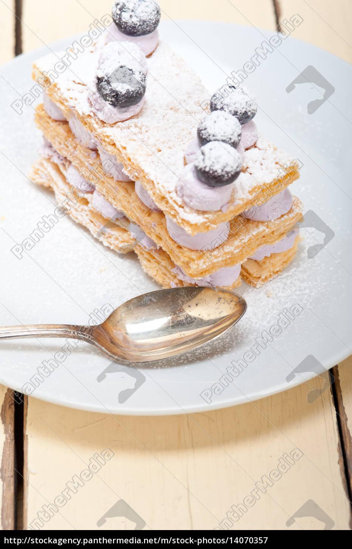 napoleon, blueberry, cake, dessert - 14070357